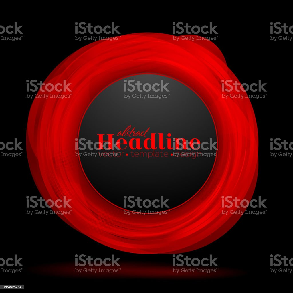 Abstract red black circle vector background royalty-free abstract red black circle vector background stock vector art & more images of abstract