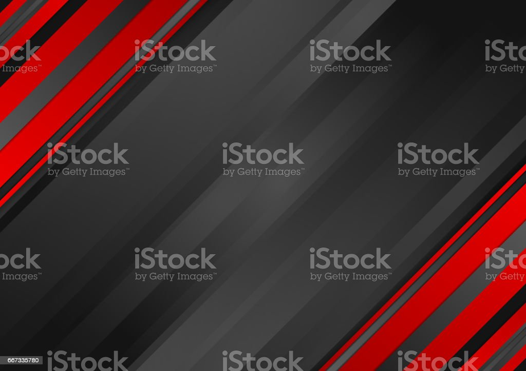 Abstract red black striped corporate background vector art illustration