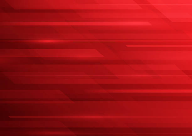 Abstract red blurred lines background vector art illustration