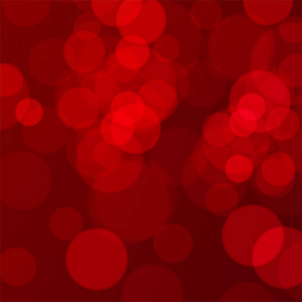 bildbanksillustrationer, clip art samt tecknat material och ikoner med abstrakt röd jul bakgrund med bokeh - stillsam scen