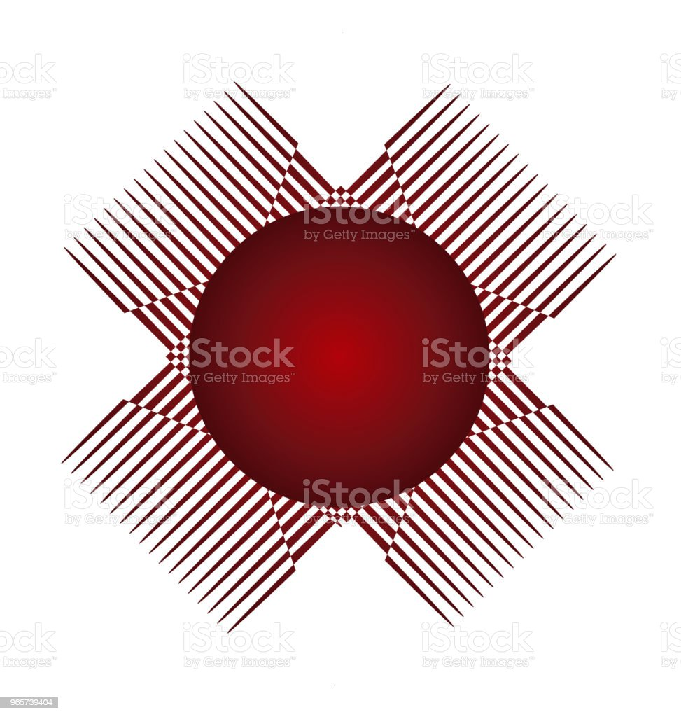 Abstract red circle graphic application icon id card vector - Royalty-free Abstract stock vector