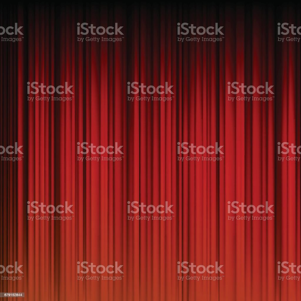 abstract red curtain background vector art illustration
