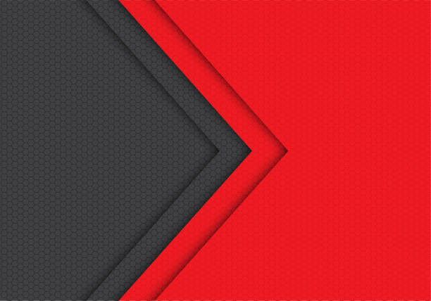 ilustrações de stock, clip art, desenhos animados e ícones de abstract red grey arrow hexagon mesh pattern direction design modern futuristic background vector illustration. - vermelho