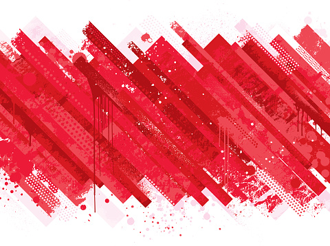 Abstract Red Grunge Background Stock Illustration - Download Image Now