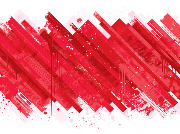 Abstract red grunge background