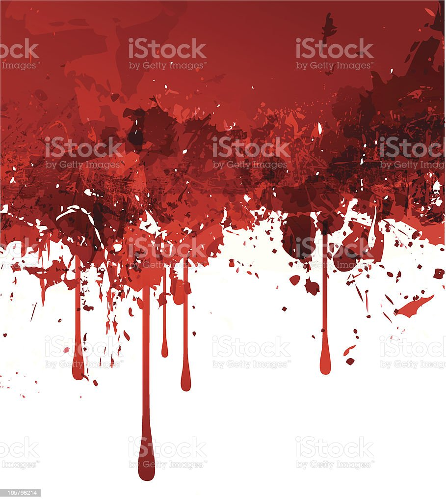 Abstract red grunge background vector art illustration