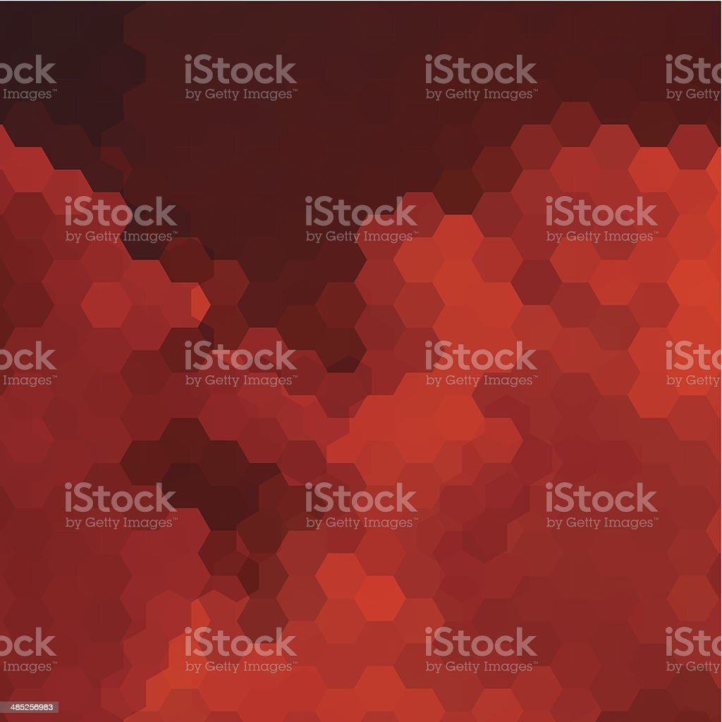 abstract red hexagon pattern background vector art illustration