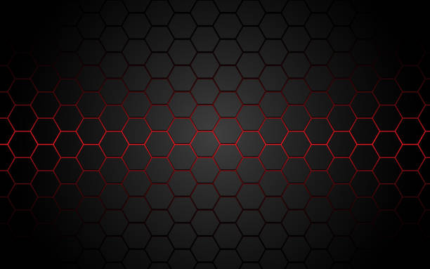 Abstract red light hexagon line in grey modern luxury futuristic background vector illustration. Abstract red light hexagon line in grey modern luxury futuristic background vector illustration. hexagon stock illustrations