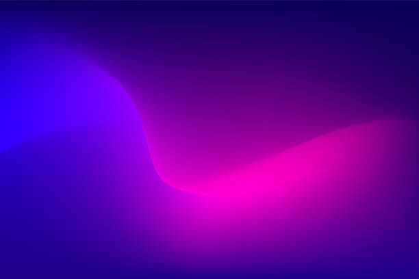 abstract red light trail on blue background - abstract art stock illustrations