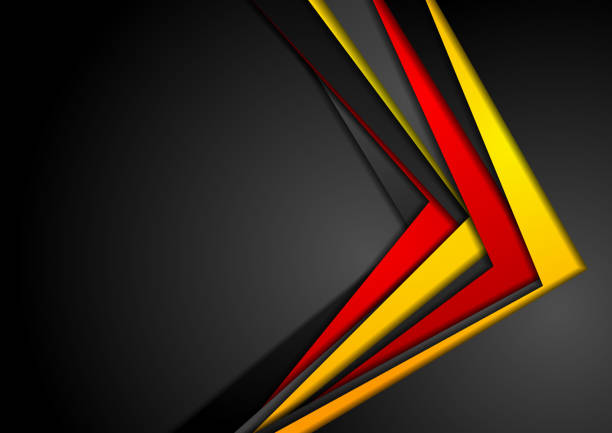 Abstract red, orange and black corporate background vector art illustration