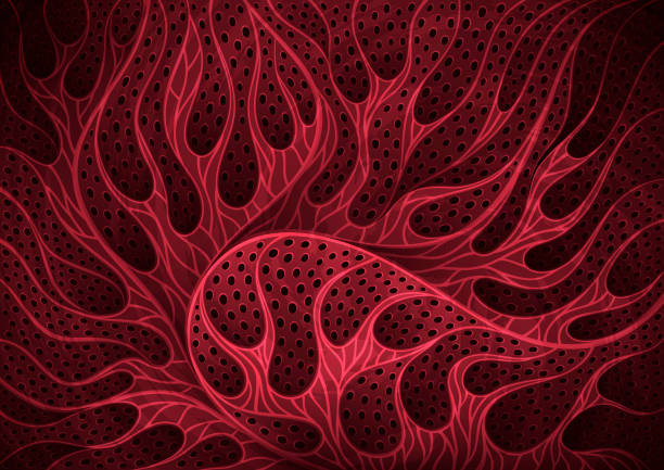 Abstract red organic background for pandemic illustrations vector art illustration