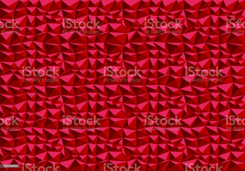 Abstract Red Polygon Pattern Background Texture Vector