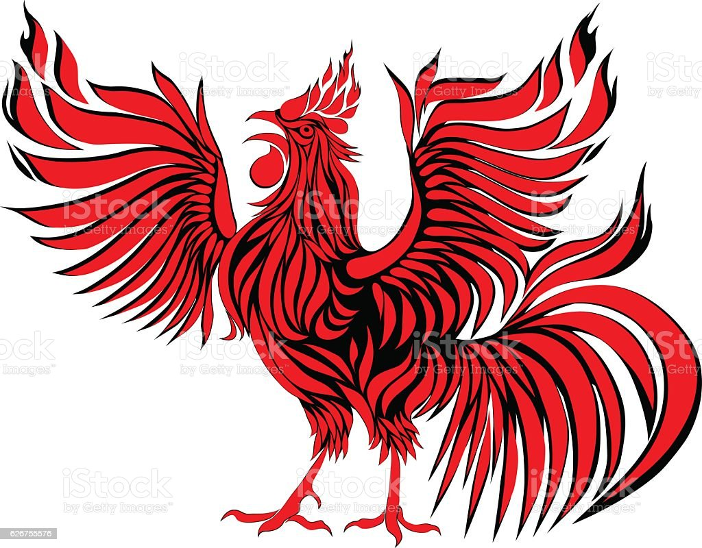 Abstract red rooster symbol of 2017 on the chinese calendar stock abstract red rooster symbol of 2017 on the chinese calendar royalty free abstract biocorpaavc