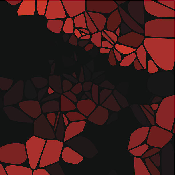 abstrakt rot sprenkelung form mit schwarzem hintergrund - zigeunerleben stock-grafiken, -clipart, -cartoons und -symbole