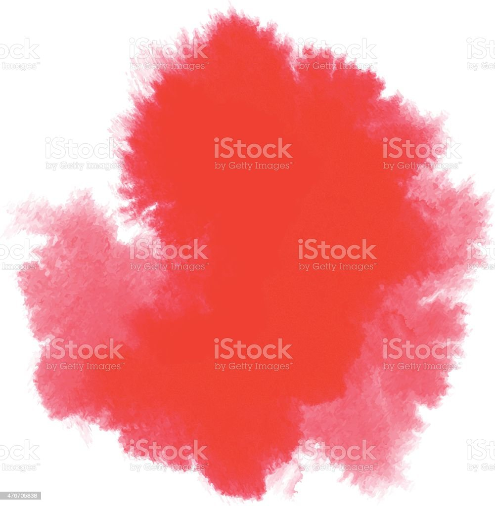 Abstrait Fond aquarelle rouge - Illustration vectorielle