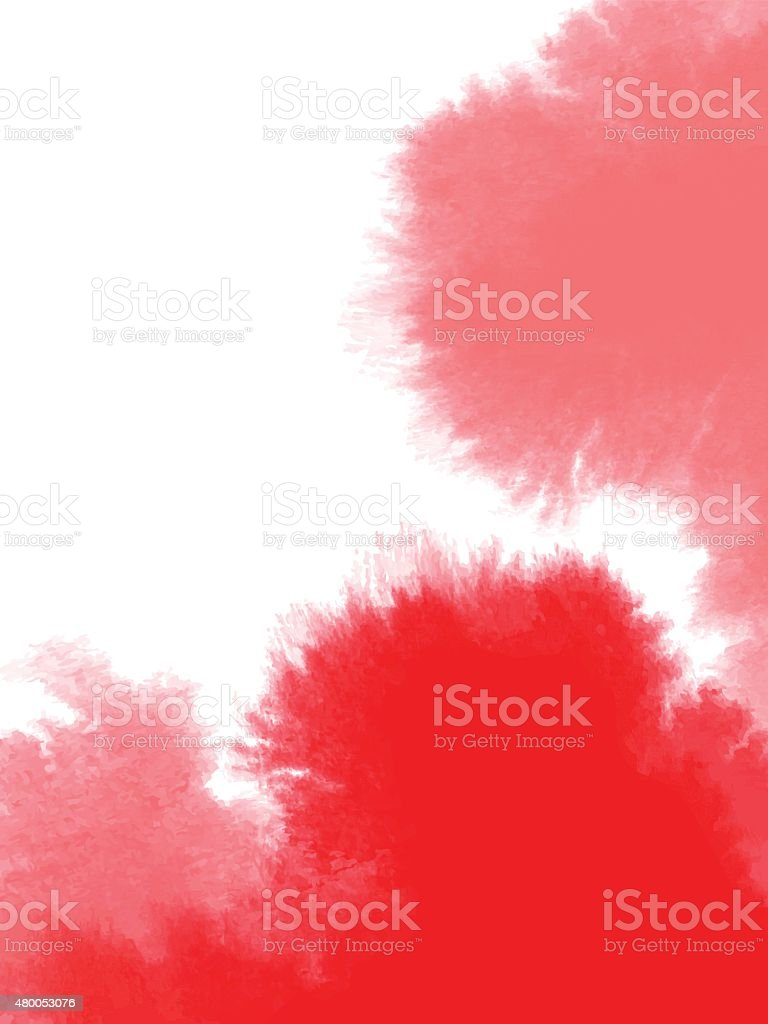 Abstract red watercolor background vector art illustration