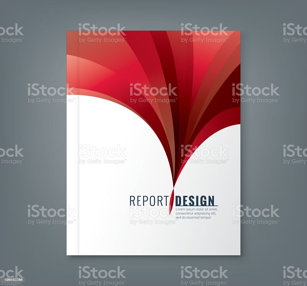 Abstract Book Cover Background ~ Abstract red wave background for business annual report