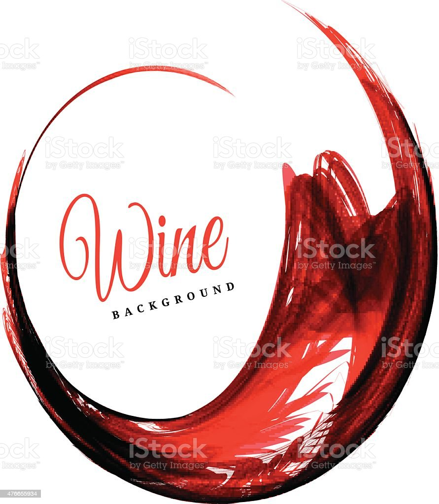 Abstract red wine background vector art illustration