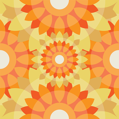 Abstract repeating tiles pattern can be used for fabric, background, wallpaper