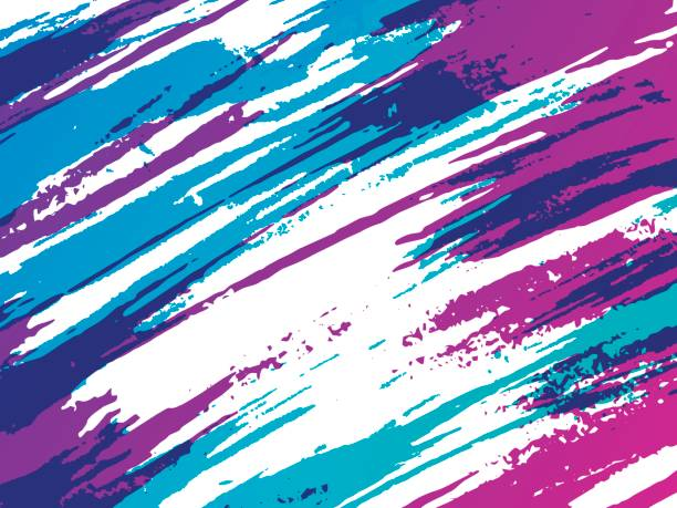 abstract retro brush background - 1990s style stock illustrations