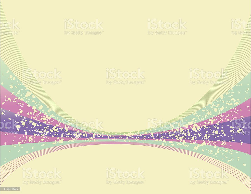Abstract Retro Curve Background vector art illustration