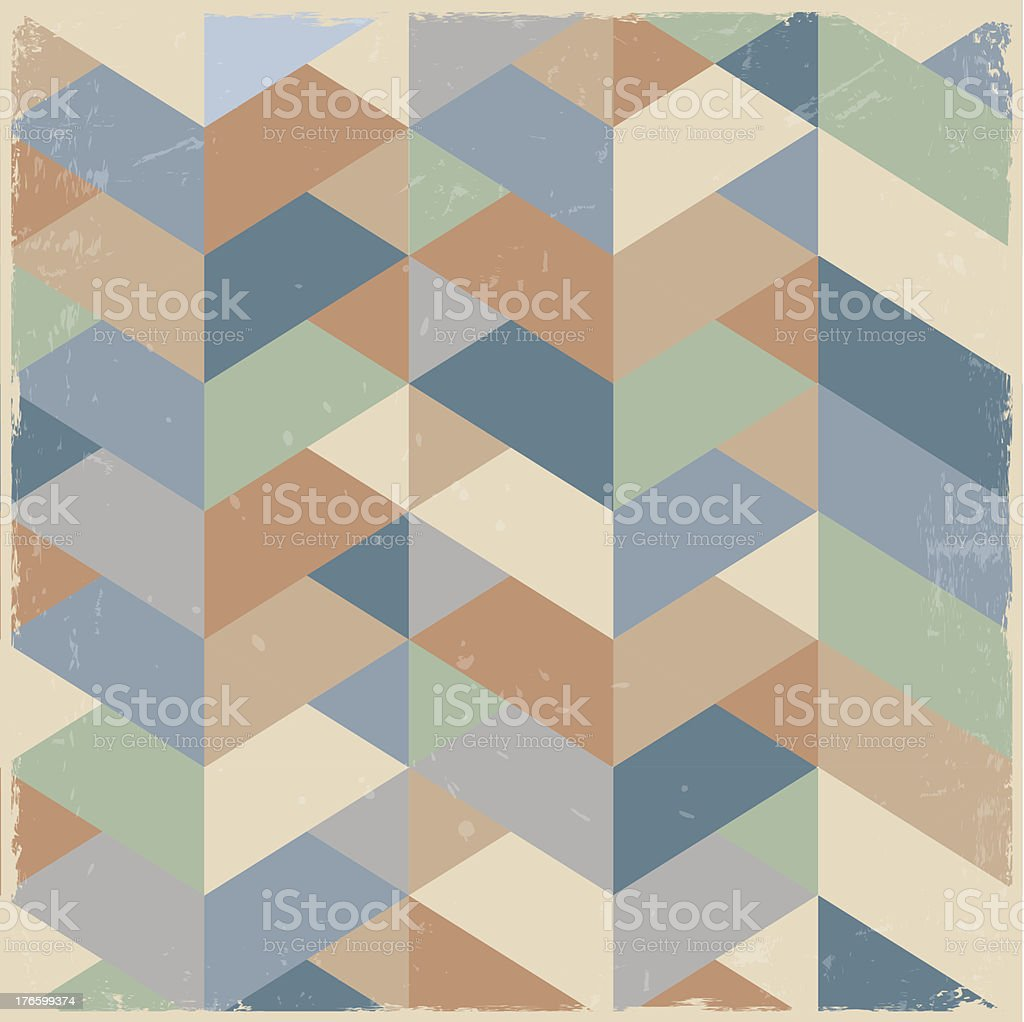 Abstract retro geometric background royalty-free stock vector art