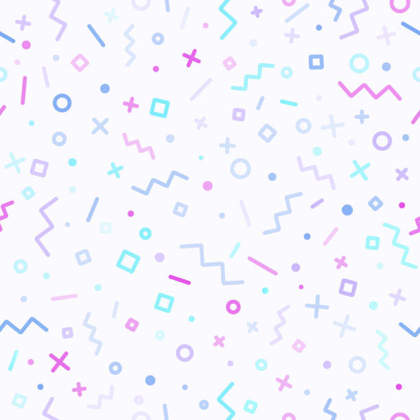 Abstract Retro Line Background Retro seamless abstract background pattern. youth culture stock illustrations