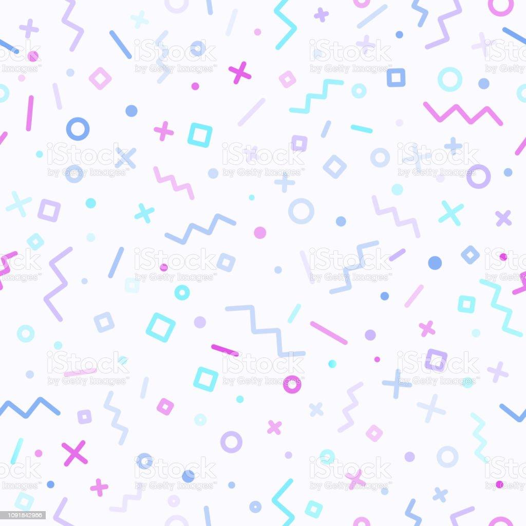 Abstract Retro Line Background vector art illustration