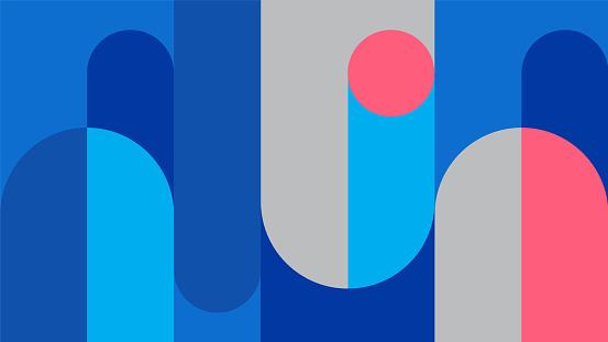 Abstract retro midcentury geometric graphics