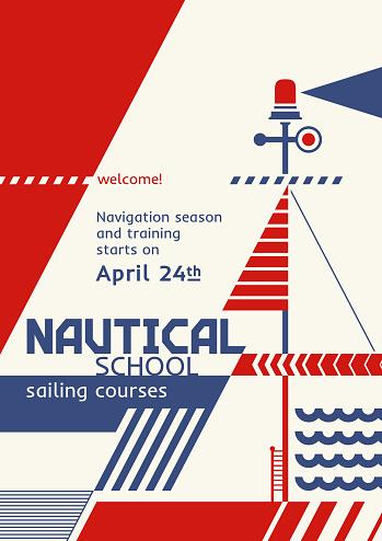 Abstract Retro Nautical Poster