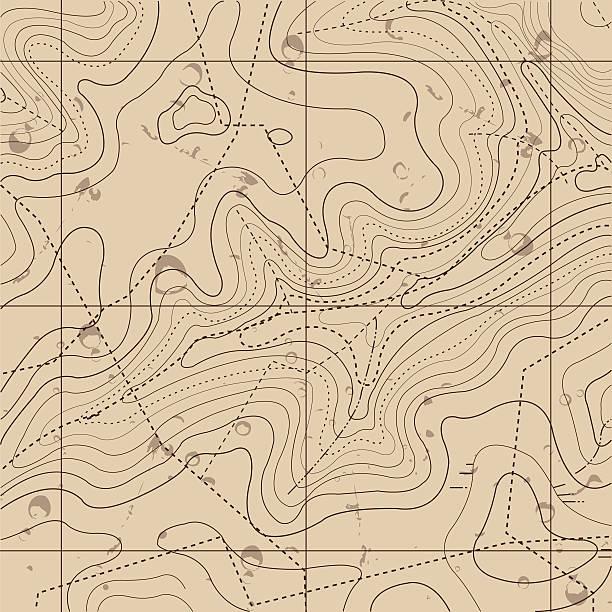 Abstrakte Retro-Karte Hintergrund Topografie – Vektorgrafik