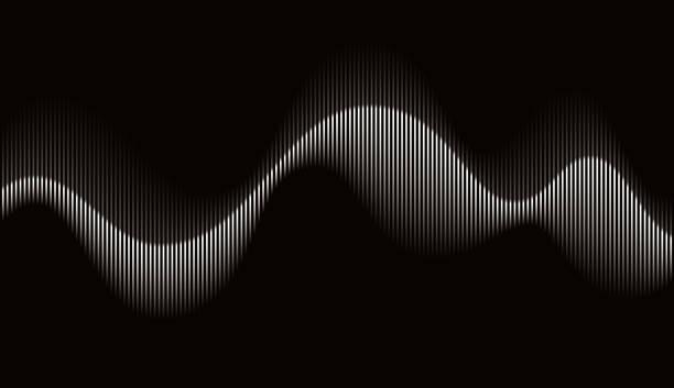 abstrakcyjna rytmiczna fala dźwiękowa - ruch stock illustrations