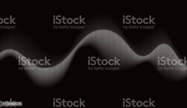 Onde Sonore Rythmique Abstraite Vecteurs libres de droits et plus d'images vectorielles de Abstrait