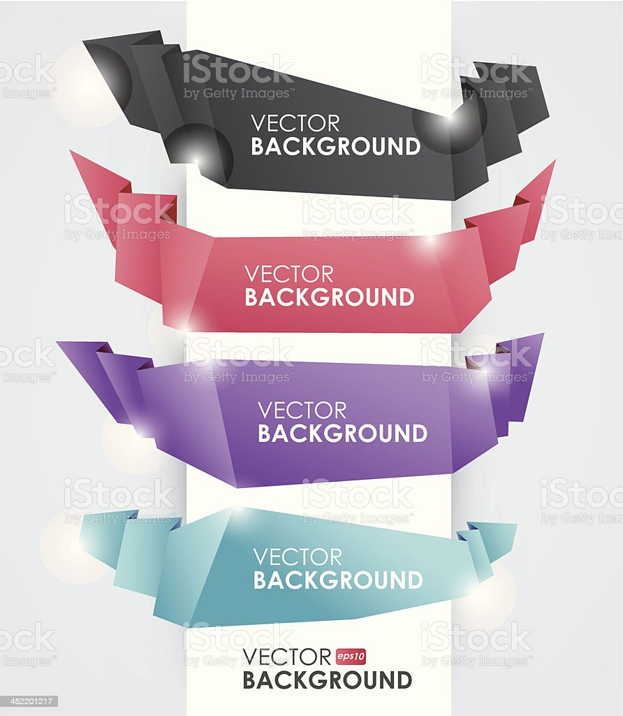 Abstract ribbon banner style layout.vector illustration. royalty-free stock vector art