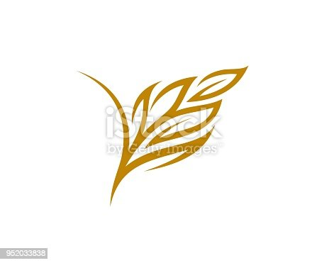 abstract rice and wheat logo