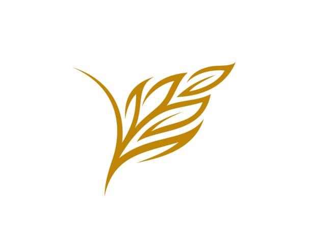 soyut pirinç logosu - buğday stock illustrations