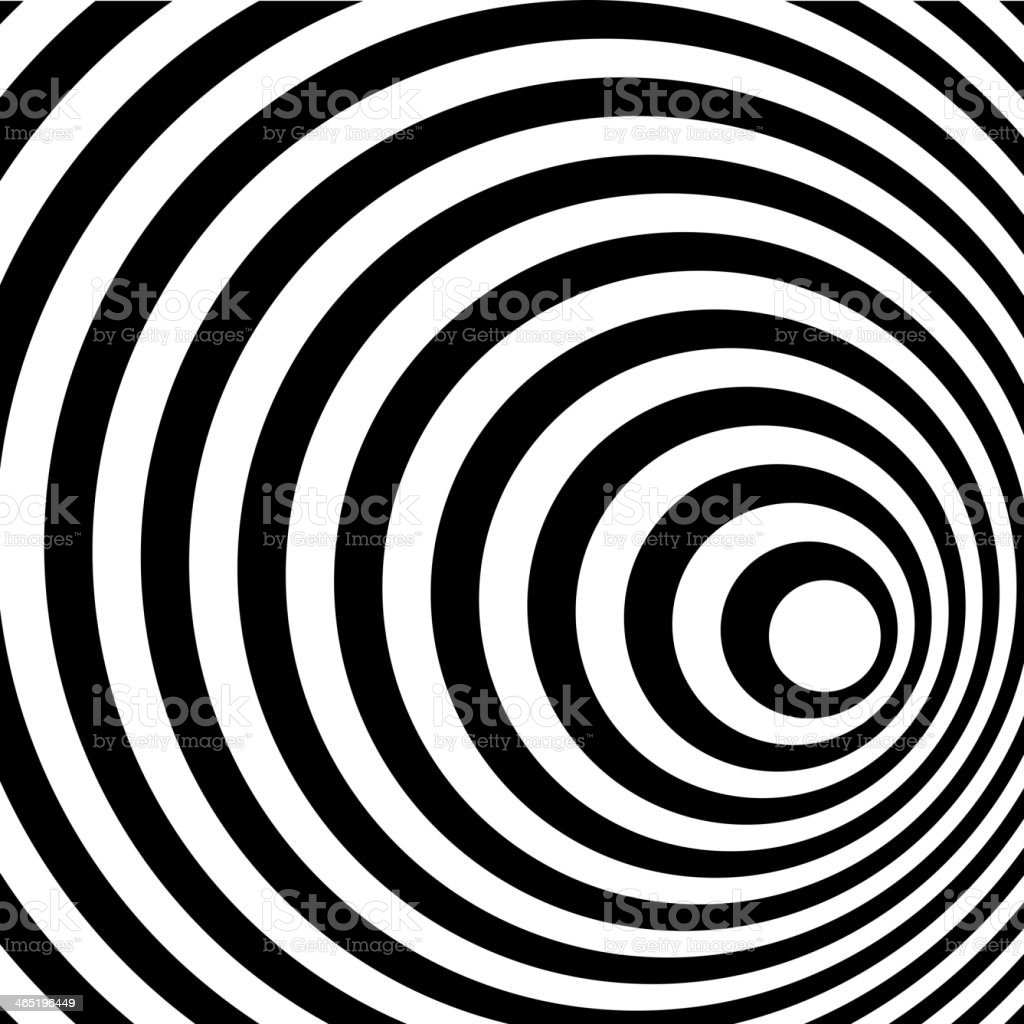 Abstract Ring Spiral Black and White Pattern Background. vector art illustration