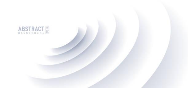 abstrakcyjny efekt tętnienia na białym tle. kształt okręgu z cieniem w ilustracji wektorowej stylu cięcia papieru. - efekty fotograficzne stock illustrations