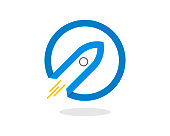 istock Abstract rocket launching with circle outline 1271238361