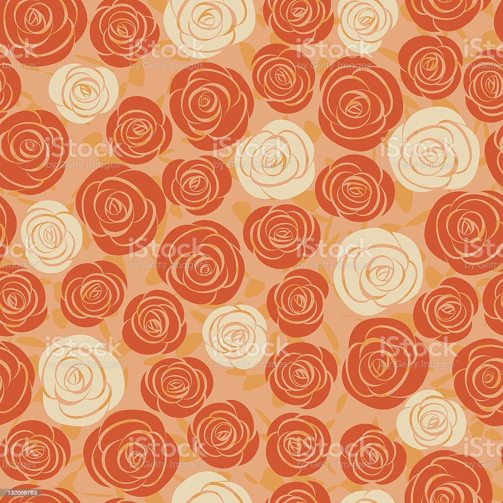 abstract rose seamless background royalty-free stock vector art