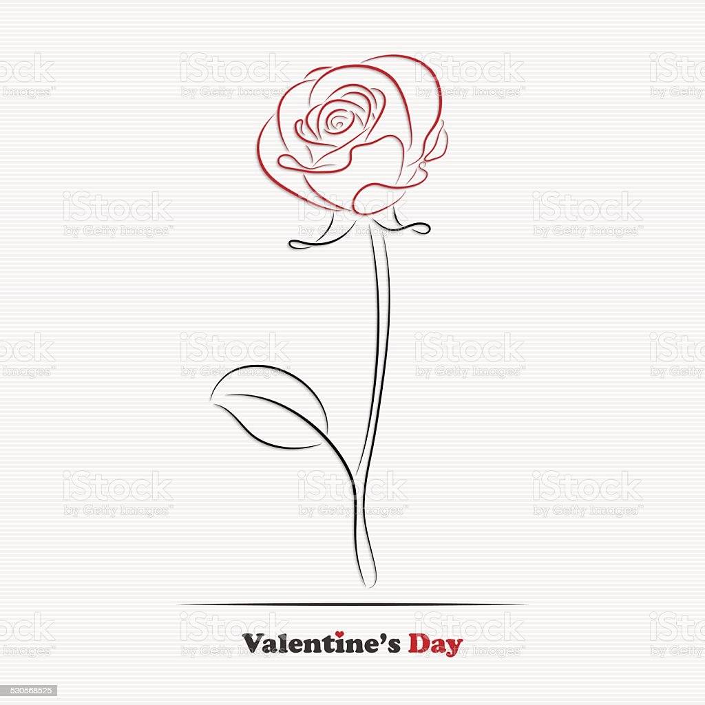 Abstract rose vector art illustration