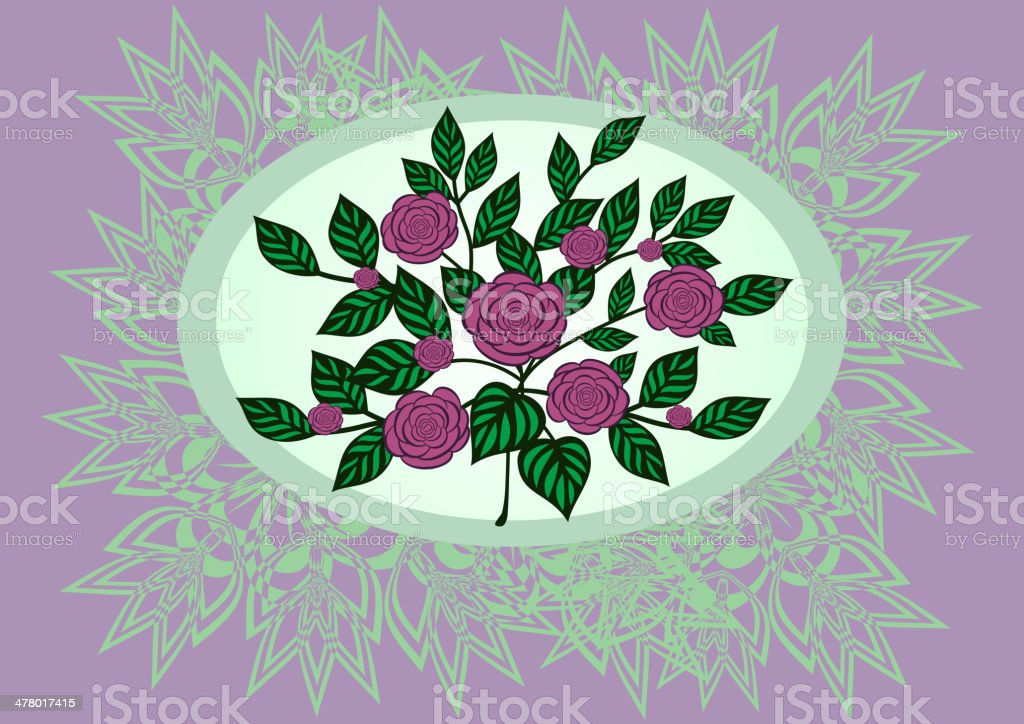 Abstract roses with background royalty-free stock vector art