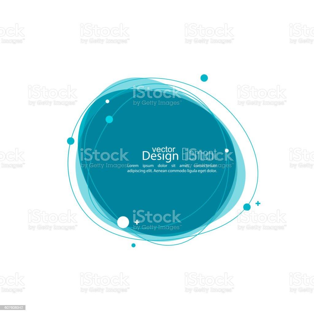 Abstract round banner vector art illustration