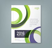 Abstract round circle shapes background for business annual report
