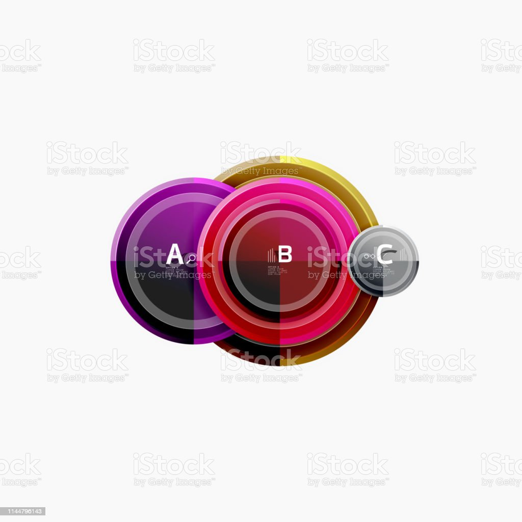 Abstract Round Geometric Shapes Modern Circles Background