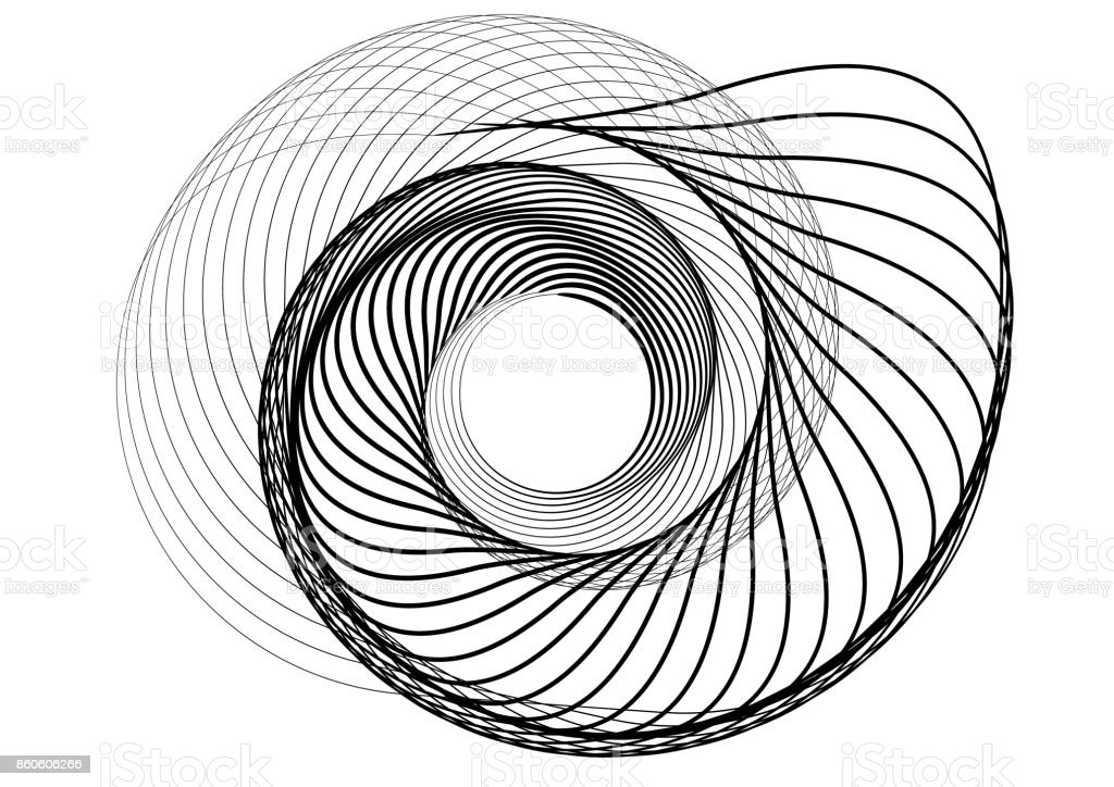 abstract round spiral template for the logo stock vector art more