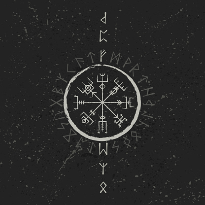 Abstract runic symbols background