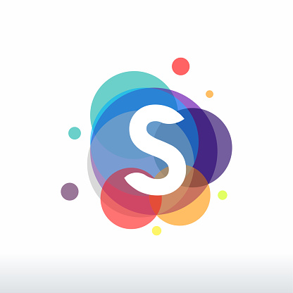 Abstract S Initial logo designs concept vector, Colorful Letter S logo designs