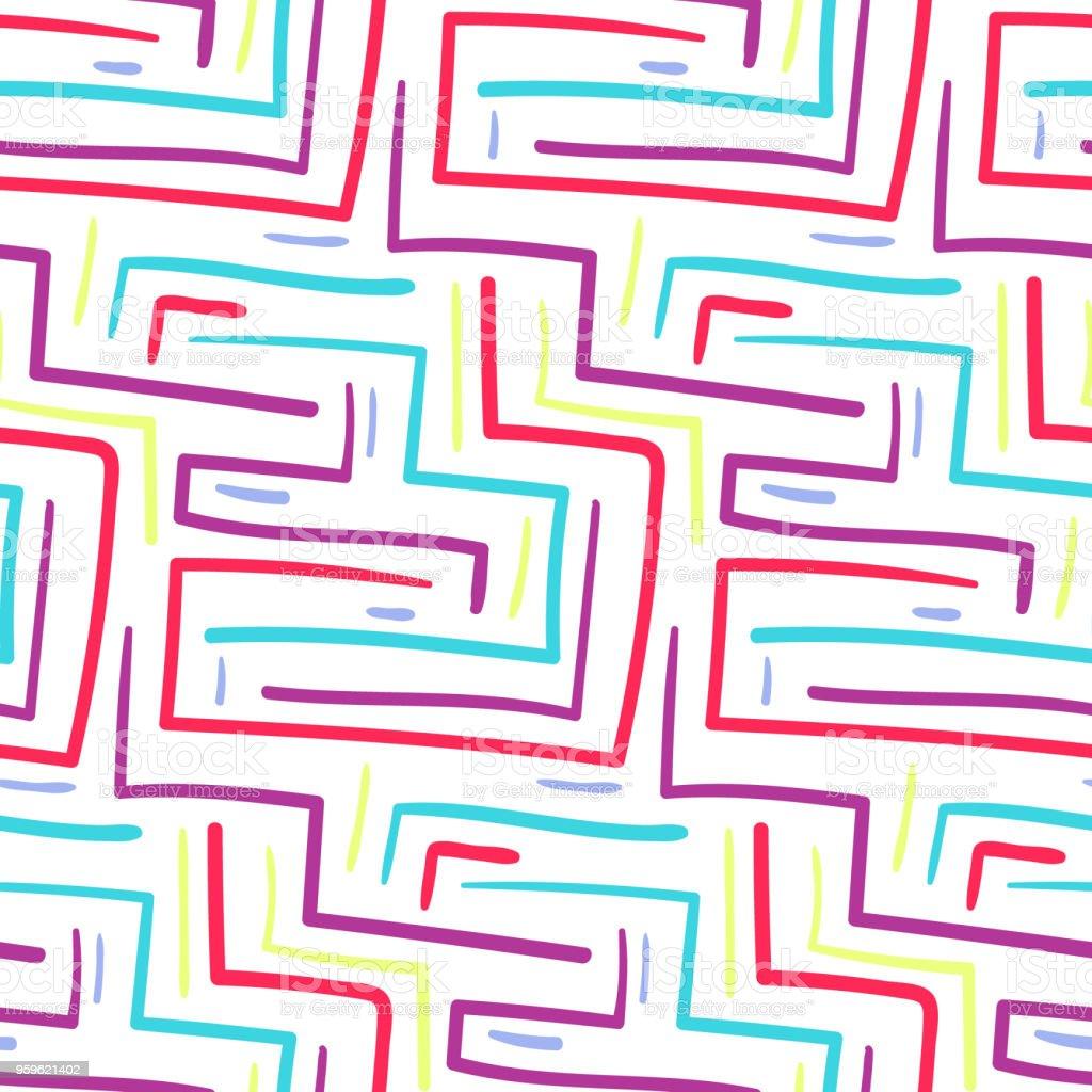 Patrón de líneas ángulo colorido escandinavo Resumen - arte vectorial de Abstracto libre de derechos