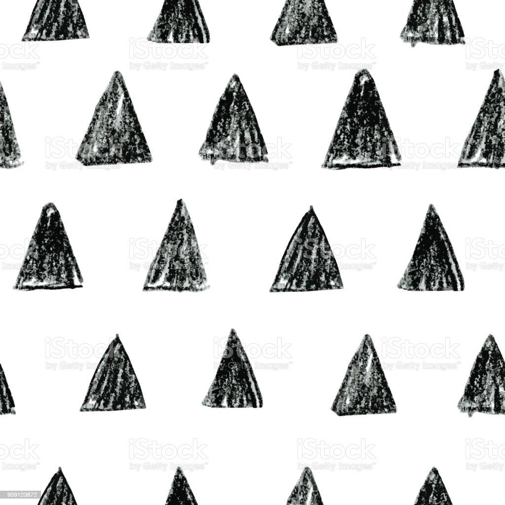 Ilustración de Resumen Patrón Escandinavo Con Triángulos Negros ...